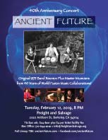 Ancient Future 40th Anniversary Concert Poster