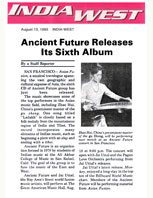 India West Article Ancient Future Releases It's