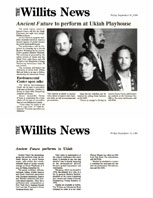The Willits News Ancient Future Performs in Ukiah 9-30-94