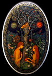 Adam and Eve from Russian Lacquer Box Painting by Tatyana Smirnova