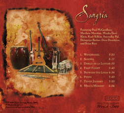 Back Cover of Sangria